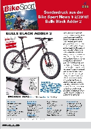 "Testbericht ""Bike Sport News"": BULLS Black Adder 2, Modell 2010"